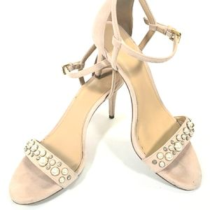 Michael Kors Blush Pearl Strappy Heels Size 7